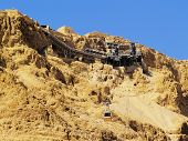 stock photo of masada  - Cable Car to Masada  - JPG