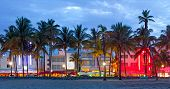 stock photo of beach hut  - Miami Beach - JPG