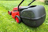 New Lawnmower On Green Grass