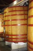 foto of fermentation  - Wooden fermentation tanks at the vineyard in Provence - JPG