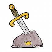 picture of arthurian  - cartoon sword in stone - JPG