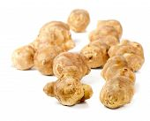 pic of jerusalem artichokes  - jerusalem artichoke isolated on white background - JPG