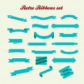Retro styled ribbons collection.