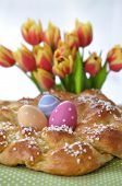 Sweet braided easter bread