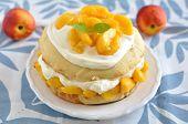 Peach and Cream Shortcake