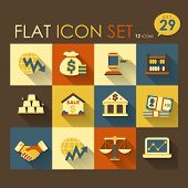 Economic Activities & Financial Icon Set