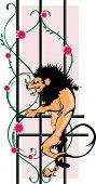 lion on lattice rod