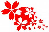 Japanese Flag With Sakura