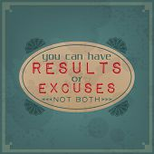 foto of cans  - You can have results or excuses not both  - JPG