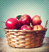 Red Apples In Basket