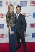 NEW YORK-FEB 1: Actress Caitlin Mehner and writer Danny Strong attend the 66th Annual Writers Guild