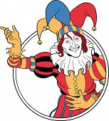 Jester coming out of circle