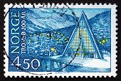 Postage Stamp Norway 1978 Tromso Cathedral