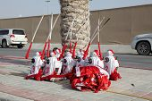 picture of qatar  - Jockey Robots at the Camel Race Track in Doha Qatar Middle East - JPG