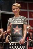 LOS ANGELES - MAY 01:  Scarlett Johansson arrives to the Walk of Fame Ceremony for Scarlett Johansso