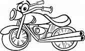 pic of chopper  - Black and White Cartoon Illustration of Funny Motor Bike Vehicle or Chopper Mascot Character for Coloring Book - JPG