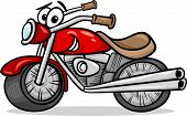 Bike Or Chopper Cartoon Illustration