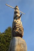 picture of totem pole  - Low angle view of a Stanley Park totem pole - JPG