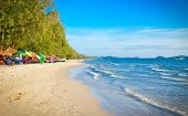 Beautiful tropical  beach Otres in Sihanoukville, Cambodia .