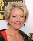 LOS ANGELES - JAN 16:  Emma Thompson arrives to the Critics' Choice Movie Awards 2014  on January 16, 2014 in Santa Monica, CA
