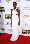 LOS ANGELES - JAN 16:  Lupita Nyong'o arrives to the Critics' Choice Movie Awards 2014  on January 16, 2014 in Santa Monica, CA
