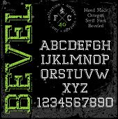 foto of slab  - Handmade retro font - JPG