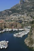 Harbor of Fontvieille in Monaco
