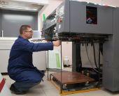 Impressora na nova máquina impressa