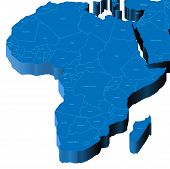 3D Map Of Africa
