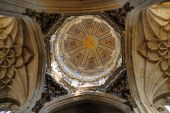 The dome of new cathedral Salamanca Spain