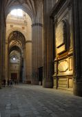 The new cathedral of Salamanca interior view Spain