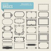 vector basics: collection of 25 detailed hand-drawn frames and panels in various styles