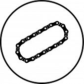 bicycle or motorcycle roller chain symbol