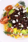 Close up of beans salad.