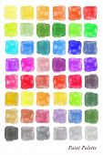 A colour palette comprising of watercolour swatches in various shades. EPS10 vector format