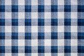 Blue Gingham Cloth Closeup