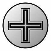 Religious Cross Button