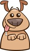 Mood Hungry Dog Cartoon Illustration