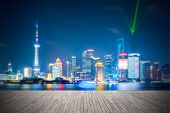 Dreamlike City Background Of Shanghai Skyline