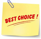 Vector Best Choice Message