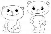 Teddy bears friends, contours