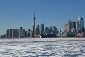 Toronto Skyline im winter