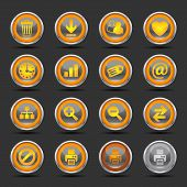 Shiny Orange Icons Set 2 - Web