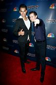 NEW YORK-JUL 30: Salsa dancers John Narvaez and Andrew Cervantes attend the 'America's Got Talent' p