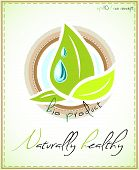 Naturally healthy label