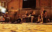 Street Performers On A Street In Temple Bar, Dublin, Ireland