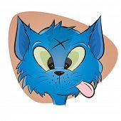 funny cartoon cat