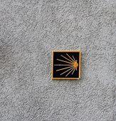 St Jacques de Compostela  road sign