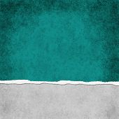 Square Dark Teal Grunge Torn Textured Background