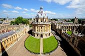 stock photo of neo-classic  - Elevated view of Radcliffe Camera and surrounding buildings Oxford Oxfordshire England UK Western Europe - JPG